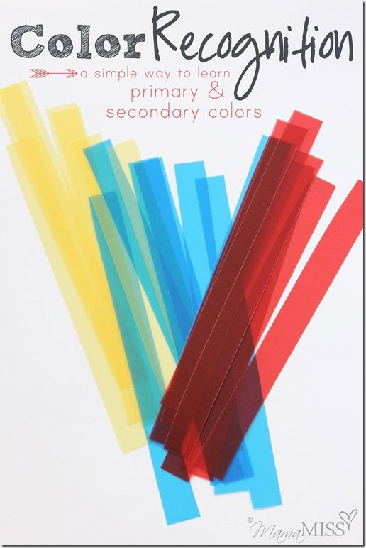 color recognition a simple way to learn primary secondary colors mama miss - Primary Colors Book