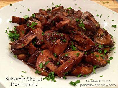 Balsamic Shallot Mushrooms | Keto Autumn & Halloween ...