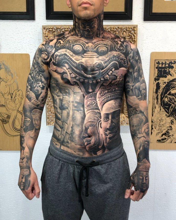 Black And Grey Tattoo Khmer Tattoo Black And Grey Tattoos Cambodian Tattoo