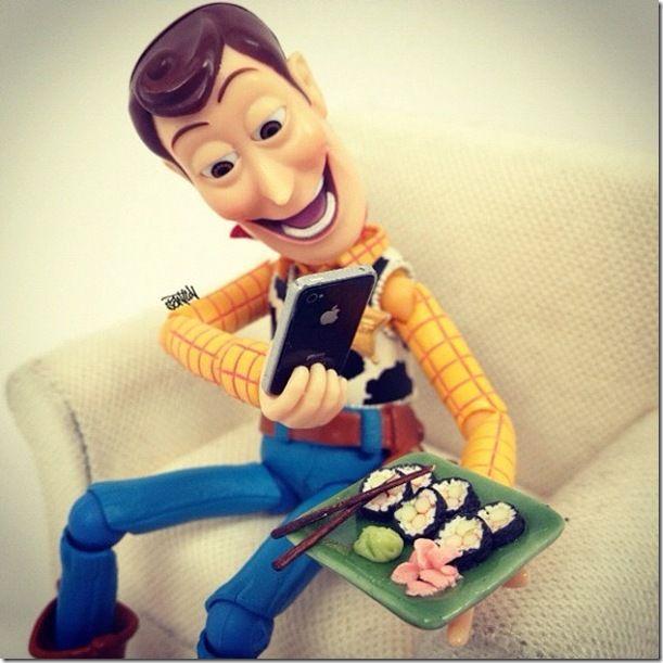 Woody Instagraming