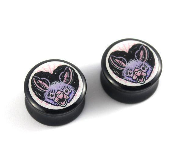 Batty Heart Ear Plugs