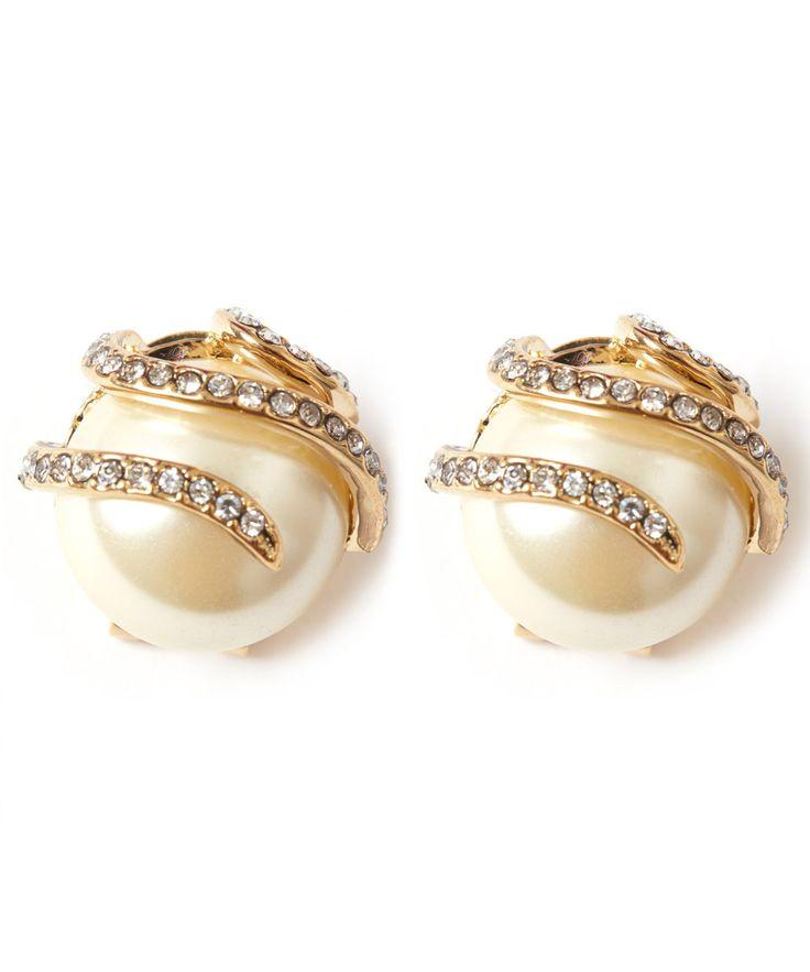 Lulu Frost Oleander Spiral Pearl Stud Earrings   Accessories   Liberty.co.uk
