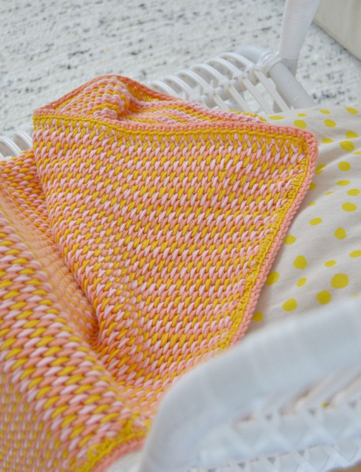 Tunisian full stitch #crochet blanket from byClaire