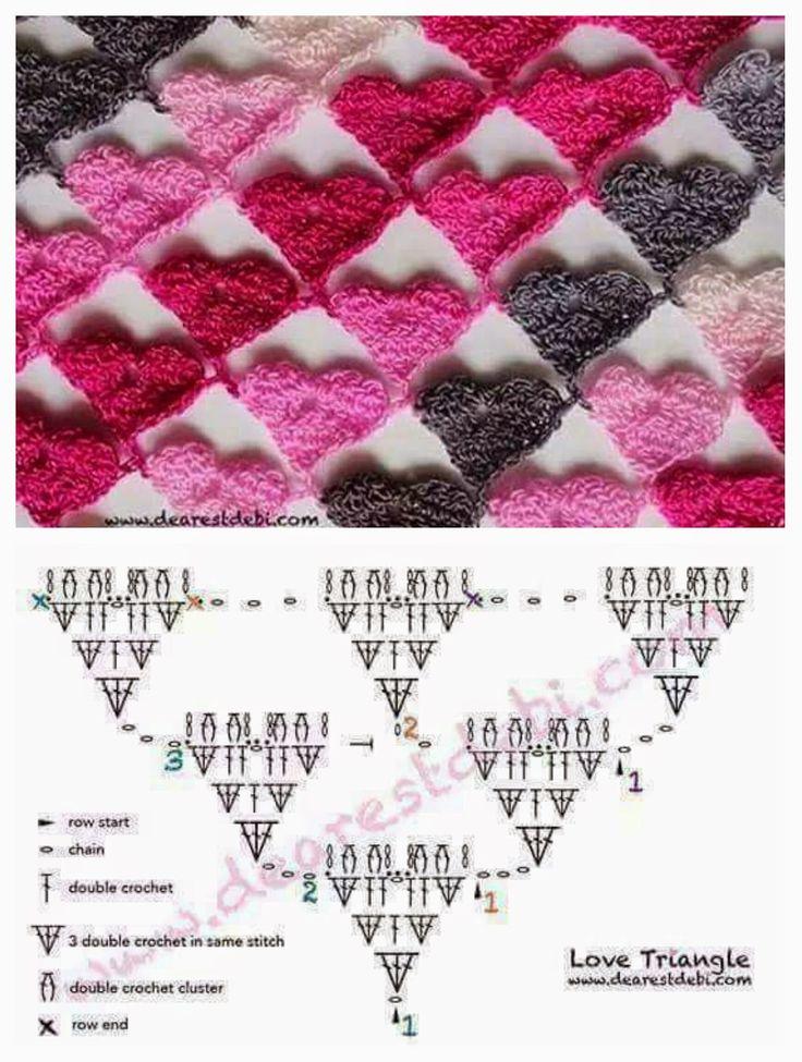 Punti all'uncinetto con schemi / Crochet stitches charts