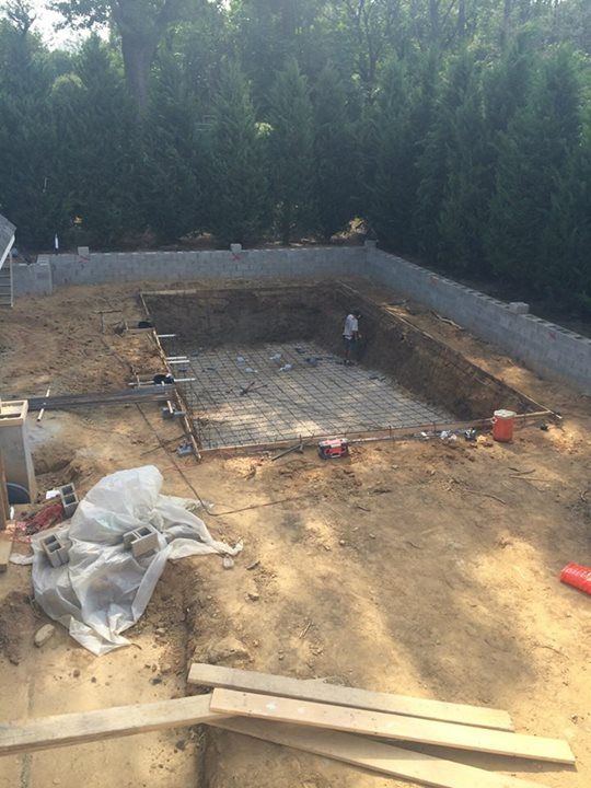 Digging out the pool.