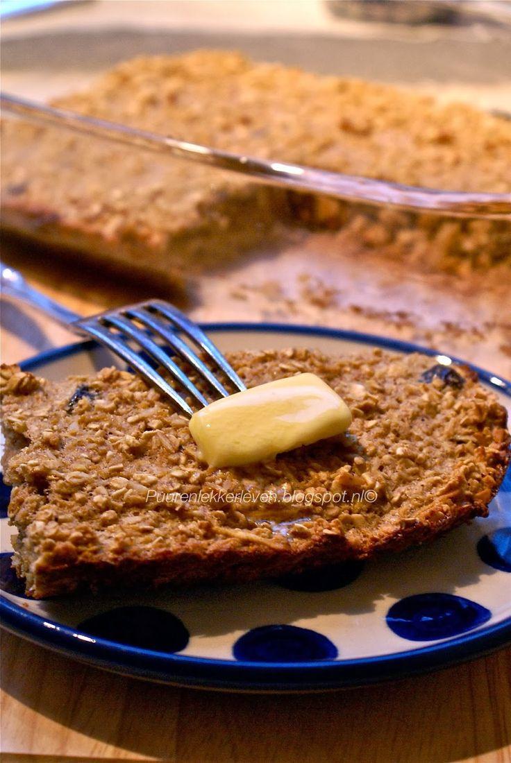 Puur & Lekker leven volgens Mandy: Ontbijttaart met Peer en Havermout