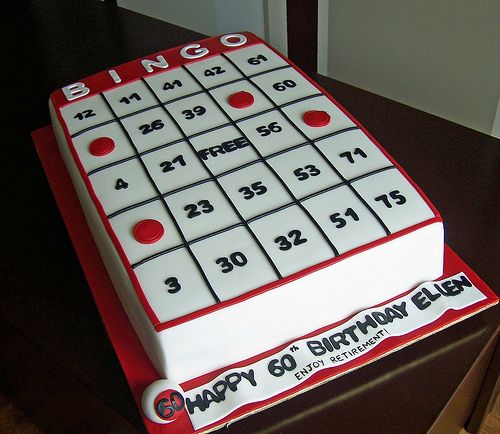 Bingo card cake | Flickr - Photo Sharing!