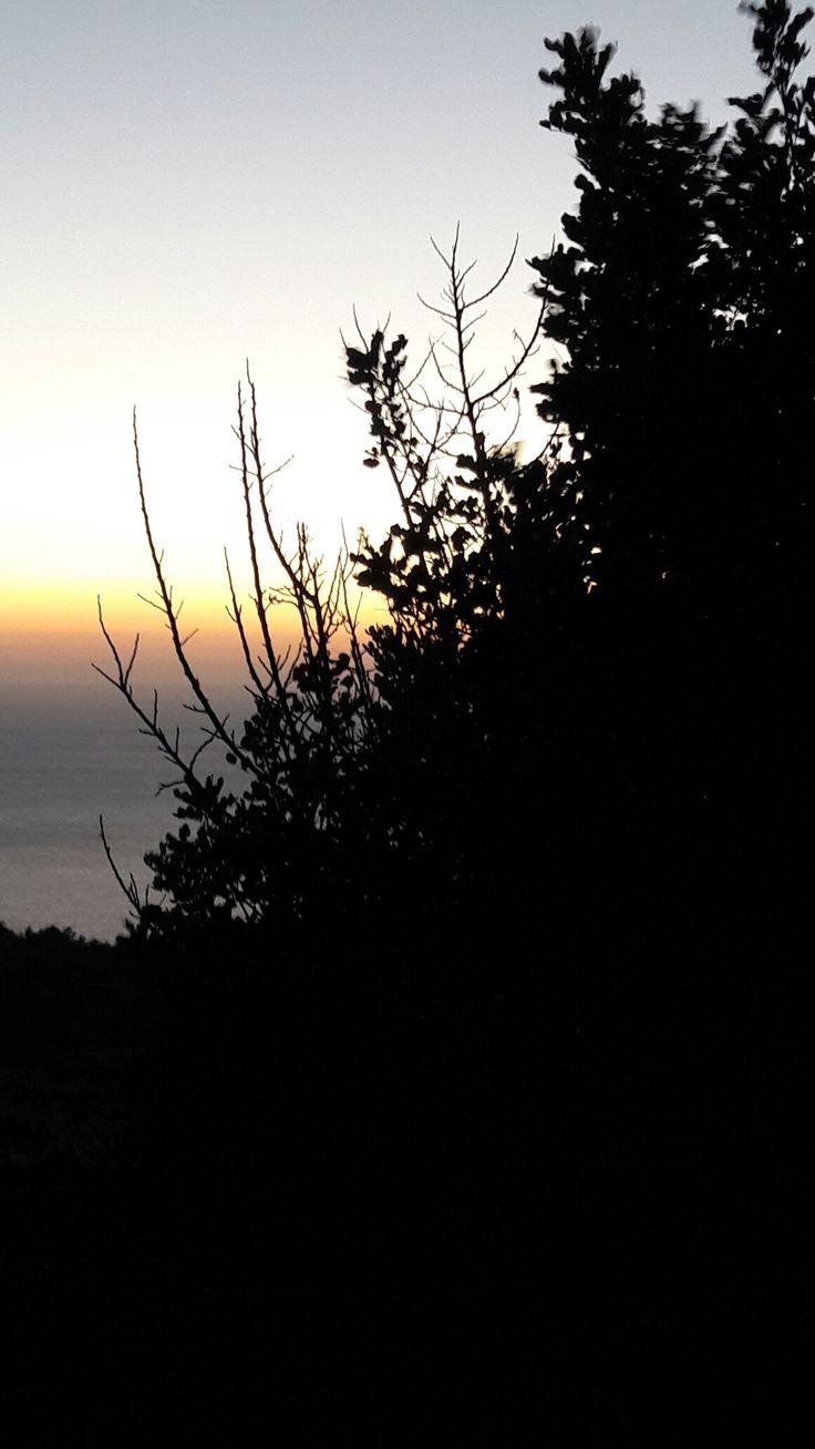 Greece chios  island sunset