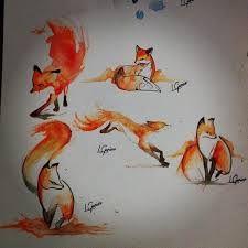 watercolor fox tattoo - Google Search                                                                                                                                                                                 More