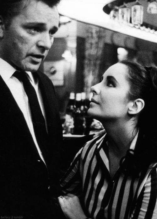 Maybe not the healthiest of relationships, but certainly iconic. Elizabeth Taylor and Richard Burton, 1963