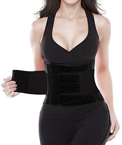 Camellias Women's Waist Trainer Belt - Body Shaper Belt For An Hourglass Shaper SZ8002-Black-M