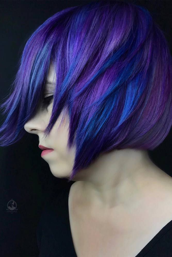 24 Blue And Purple Hair Looks That Will Amaze You Hair Color