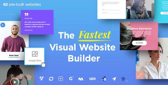 Massive Dynamic v43 WordPress Website Builder Blogger Template - free resume website builder