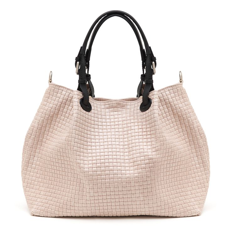 Dilla Blush woven look Italian leather Shopper NOW ON SALE $249.50 plus free Shipping within Australia www.marlafiji.com