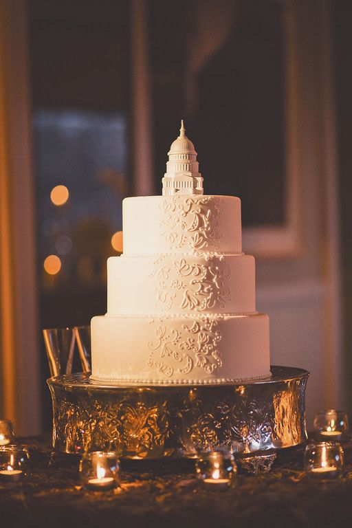 Michael Moss Photography; A Stunning Washington DC Wedding from Michael Moss Photography - DC themed wedding cake idea