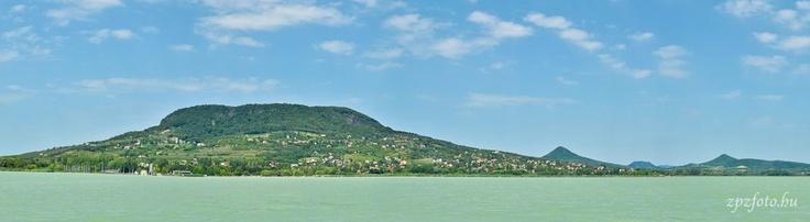 Badacsony from Lake Balaton on a sunny summer day. Hungary.