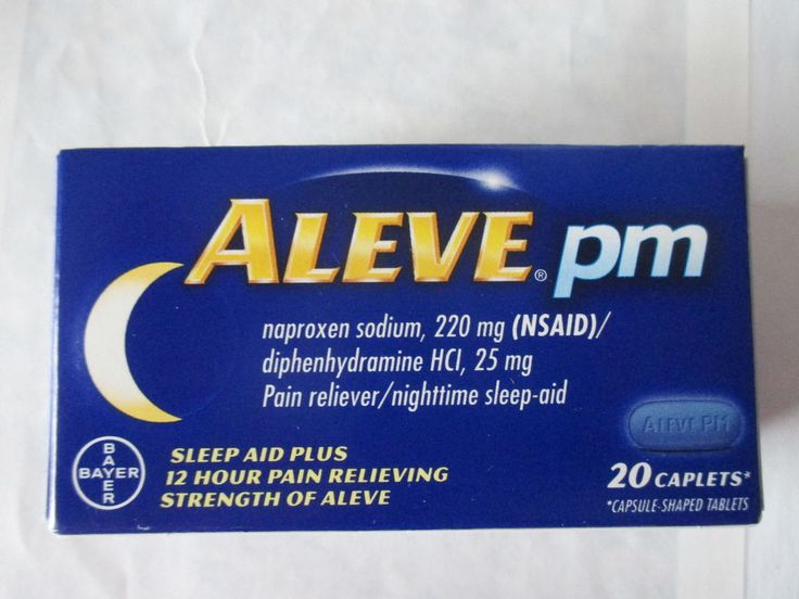 Aleve PM Pain Reliever Nighttime Sleep-Aid 20 Caplets Box You Choose Quantity #Aleve