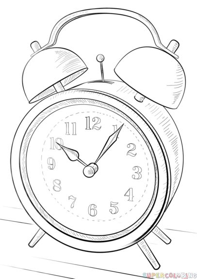 how to draw an alarm clock step by step drawing tutorials for kids Cute Alarm Clock how to draw an alarm clock step by step drawing tutorials for kids and beginners bullet journal drawings pencil drawings drawing tips