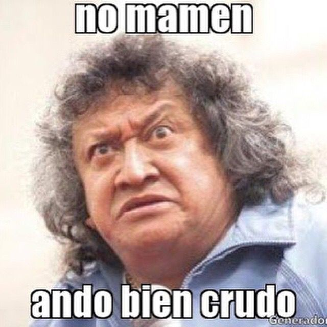 No Mamen Ando Bien Crudo Memes Funny Memes Memes Y Falcons Memes