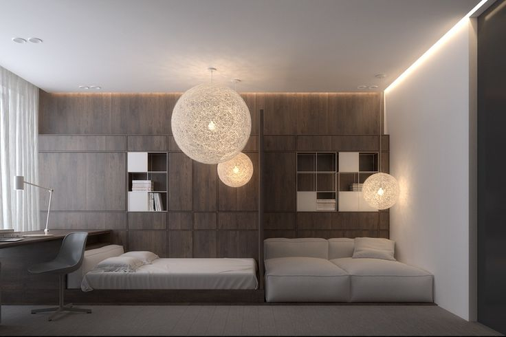 Bedrooms don't bend to conventionality either. Oversized pendant lights foster a whimsical atmosphere. Modern Moooi Random Round Ceiling Lamp.