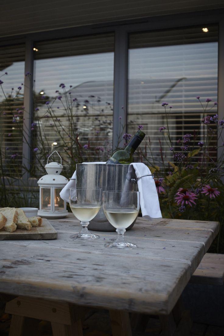 Wine on the terrace. #eatsleepbeach