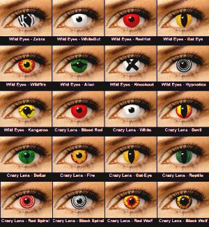 contacts for cosplay or Halloween  endeavors