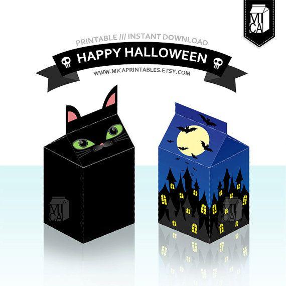 #Halloween #Printables #Party #Favor #BlackCat by MicaPrintables