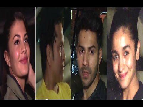 Ranbir Kapoor, Varun Dhawan, Sachin Tendulkar, Alia Bhatt & Jacqueline Fernandez at Mumbai airport.