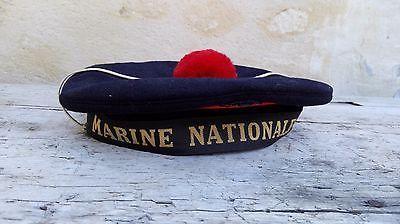 Marine nationale Béret/BACHI/ années 60/état neuf/vêtements militaire vintage