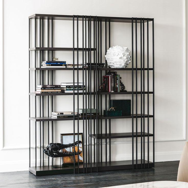 Libreria in metallo dal design essenziale Arsenal di Cattelan