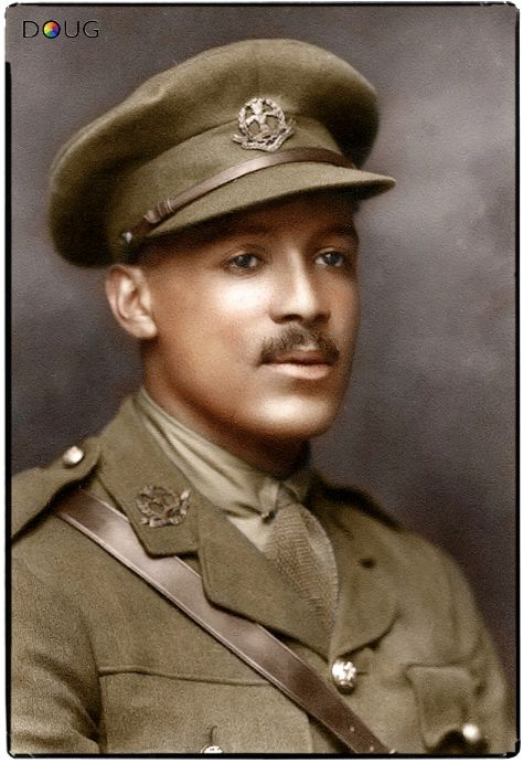 Second Lieutenant Walter Tull was the first black British Army officer. (1888-1918)