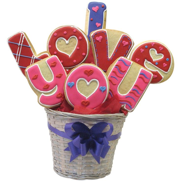 I Love You Cookie Arrangement