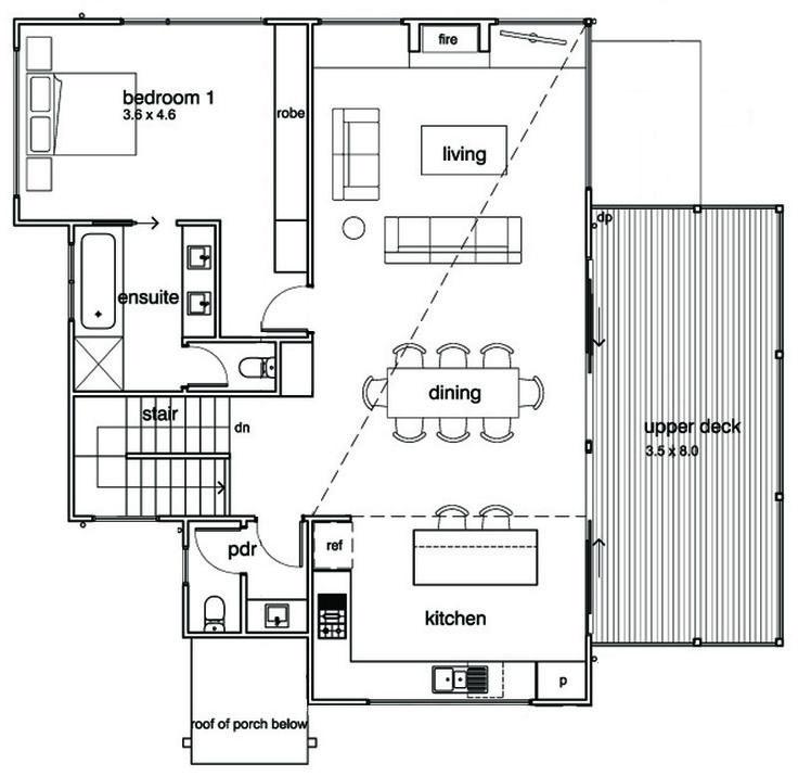 Modern style house plan 3 beds 2 5 baths 2282 sq ft plan 496