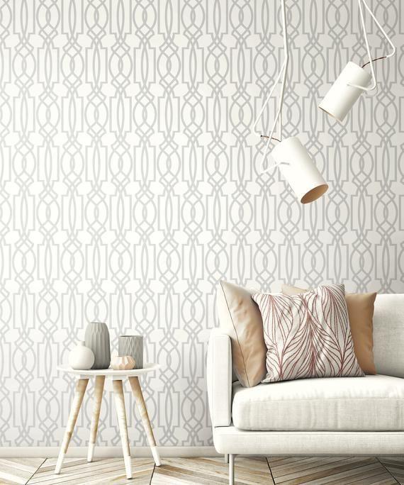 Wallpaper Gray Removable Wallpaper Vinyl Wallpaper Peel Etsy Grey Removable Wallpaper Peel And Stick Wallpaper Removable Wallpaper