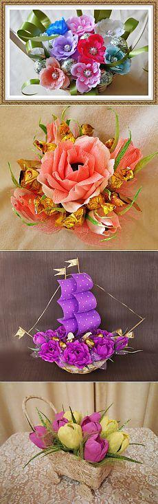 Изготовление букетов из конфет Букеты из шоколада - Компания Flowers Luxe г. Москва