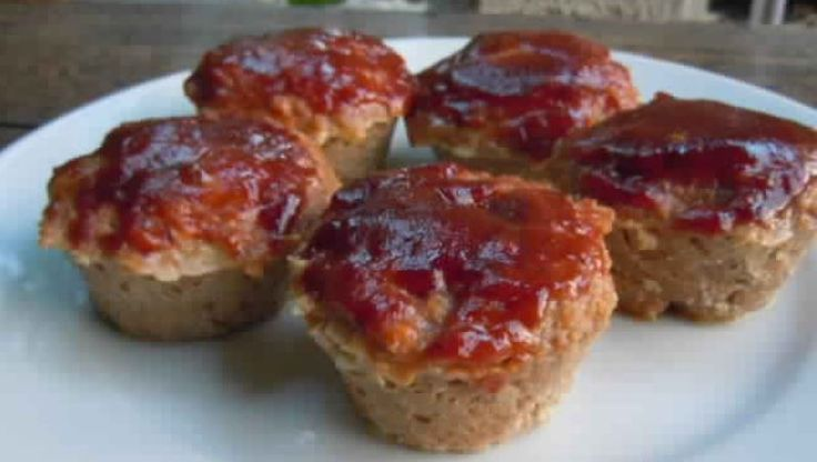 Meatloaf Muffins with Barbecue Sauce - 2 smartpoints