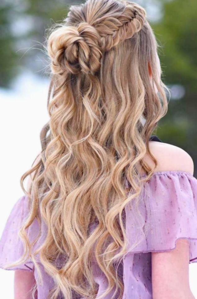 ✔ Hairstyles Updo Prom Formal #longhair #behindthechair #olaplex