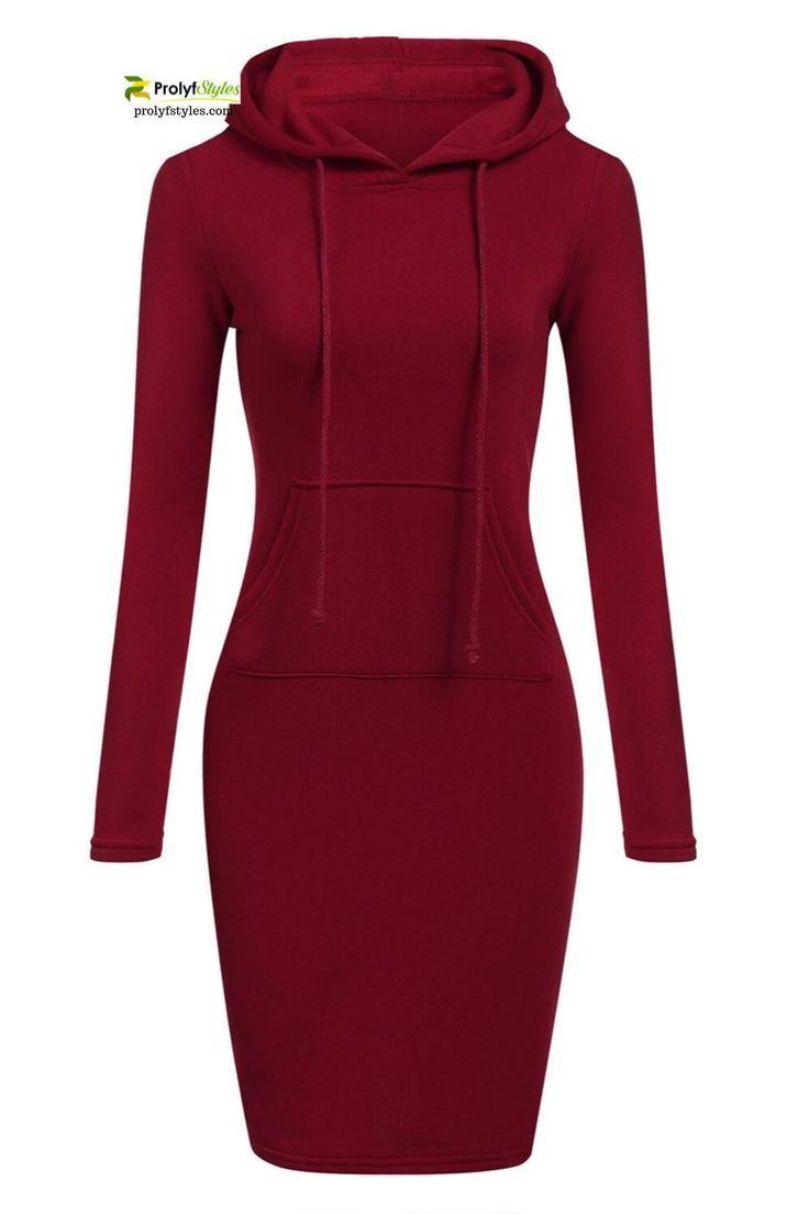 Shop Long Sleeve Hoodie Dress Online From Prolyfstyles Com Womens Sweatshirt Dress Sweatshirt Dress Hoodie Dress [ 1104 x 736 Pixel ]