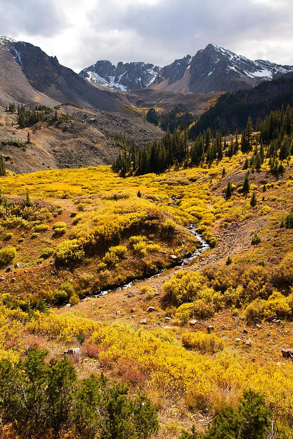 ✯ Cathedral creek flows out of Cathedral Lake in the West Elk Mountains outside of Aspen, Colorado.