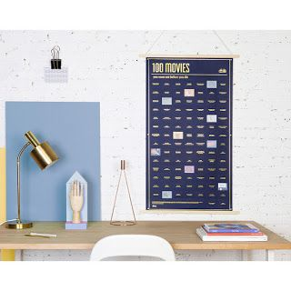 GIFT OF THE WEEK: 100 Movies You Must Watch Before You Die poster $58.95 Life's too short to be watching bad movies.  Focus your valuable movie-watching time by ticking off the best ones first with this cool advent-style poster.  #moviegifts #movies #posters