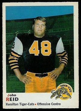 John Reid 1970 O-Pee-Chee