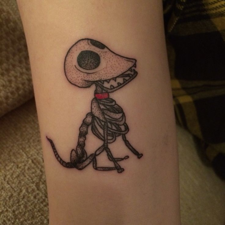 Scraps tattoo Tim burton . Just done . Corpse bride .