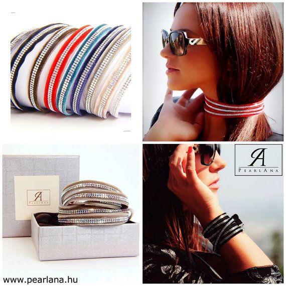 Multi strand Gray Swarovski wrap bracelet, gray swarovski crystal multi strand wrap bracelet