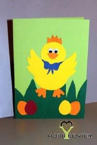 Kreatív ötletek Húsvétra: Csibés húsvéti képeslap  http://www.hobbycenter.hu/Unnepek/kiscsibes-kepeslap.html