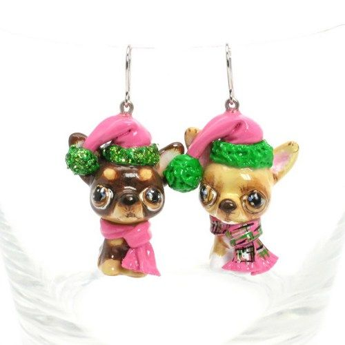 Crafts For Dog Lovers: Chihuahua Earrings Dog Lover Jewelry Christmas Gift Craft