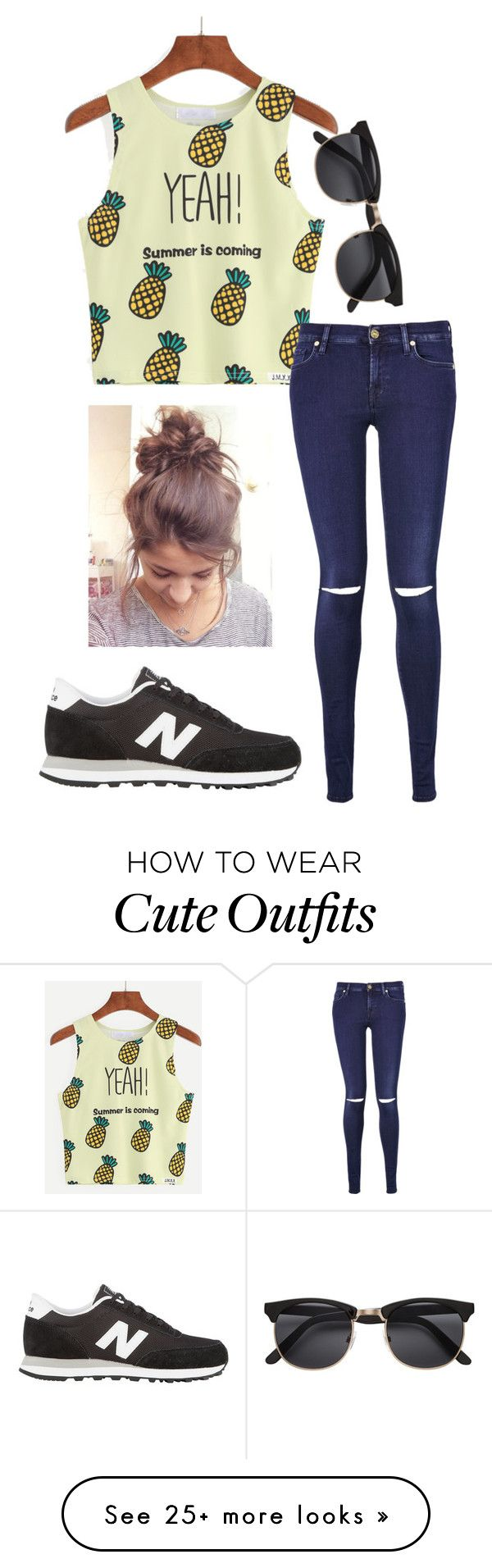 """Outfit #131"" by written-off-blog on Polyvore featuring 7 For All Mankind and New Balance"