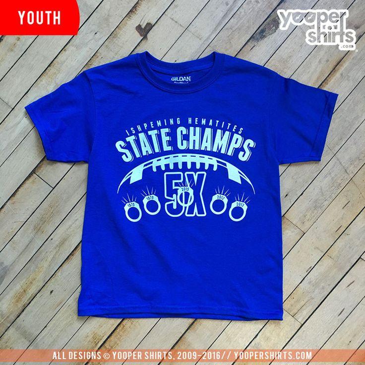 """IHS 5X RINGS YOUTH"" Royal Blue T-Shirt"