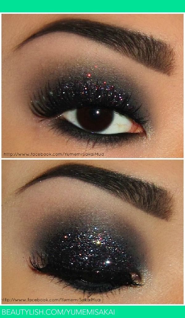 Love a good smokey eye.. great for Holidays w/the glitter