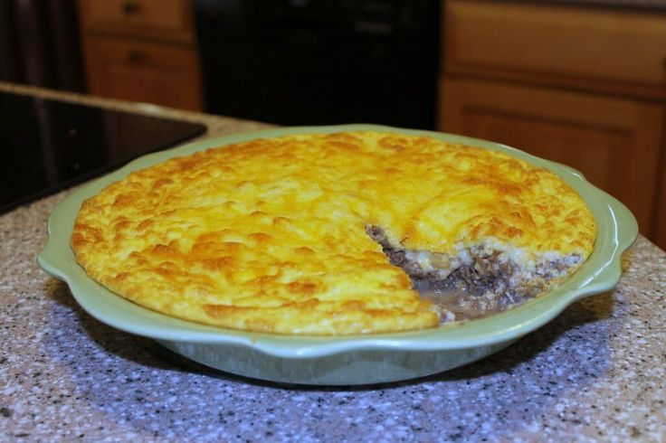 Low carb cheeseburger pie