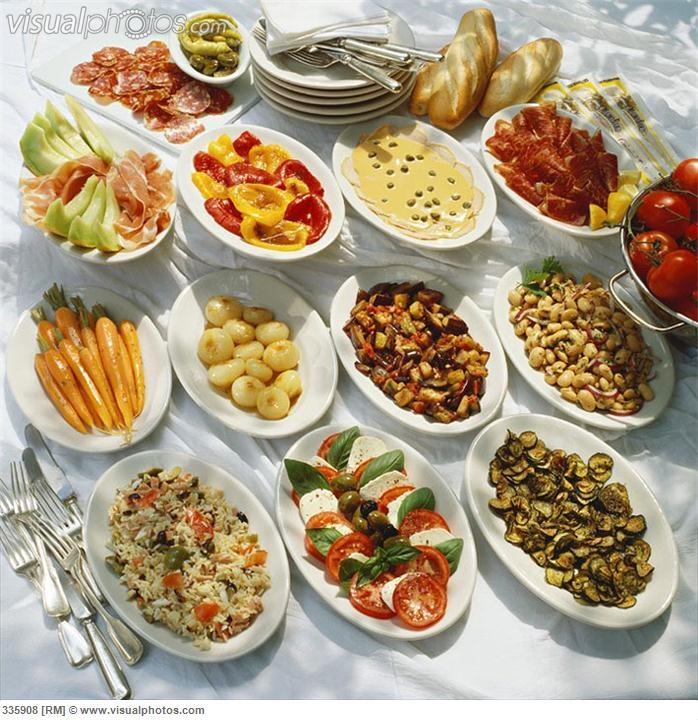 Italian antipasti buffet